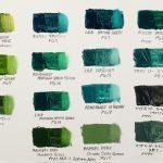 カラーチャート 緑