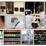 「画家(とネコ)のいる画材店」